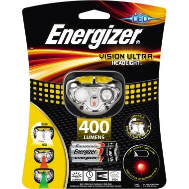 Energizer® Stirnlampe VISION ULTRA 400lm 80m LED 2 h AAA/Micro Kunststoff schwarz