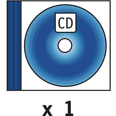 DURABLE CD/DVD Hülle QUICKFLIP® COMPLETE 15,5 x 12,6 x 2,7 cm (B x H x T) Polypropylen transparent/b