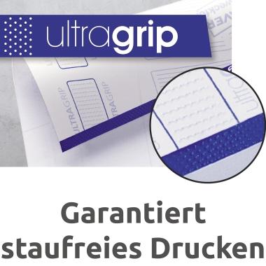 Avery Zweckform Ordnerrückenetikett ultragrip breit/kurz 59 x 192 mm (B x H) ohne Griffloch weiß 120