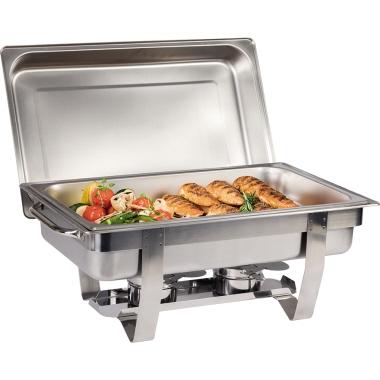 APS Wärmebehälter CHEF 9l zwei Brennpastenbehälter, Speisebehälter, Wasserbecken, Gestell mit Deckel