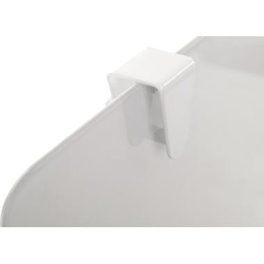 Bi-office Mobiles Flipchart mit Ablageschale Rundfuß mit 5 Lenkrollen Metall/Glas silber