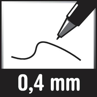 BIC® Kugelschreiber Cristal® Clic 0,4mm blau dokumentenecht Farbe des Schaftes: transparent