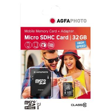 AgfaPhoto Speicherkarte microSDHC Class 10 32Gbyte