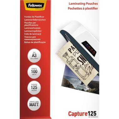 Fellowes® Laminierfolie Capture 125 306 x 428 mm (B x H) DIN A3 125µm matt 100 St./Pack.