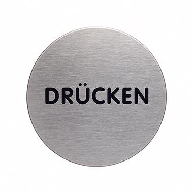 DURABLE Piktogramm Türschild PICTO 65mm Edelstahl, gebürstet silber metallic Drücken