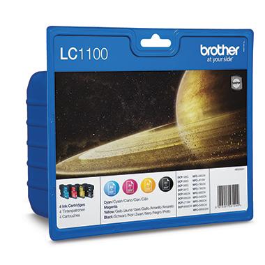 Brother Tintenpatrone LC-1100 ca. 450 Seiten schwarz, ca. 3 x 325 Seiten farbig schwarz, mehrfarbig