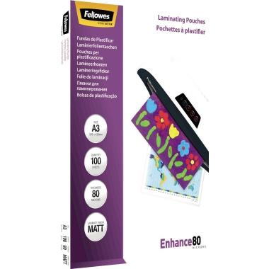 Fellowes® Laminierfolie Enhance 80 297 x 420 mm (B x H) DIN A3 80µm matt 100 St./Pack.