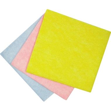 aQualine Putztuch 38 x 38 cm (B x H) 82 % Viskose, 18 % Polypropylen 2 x blau, 2 x gelb, 2 x rot 6 S
