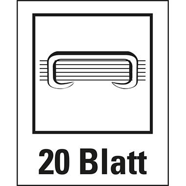 Leitz Elektroheftgerät NeXXt fest 20 Bl. (80 g/m²) e2 Metall/Kunststoff blau