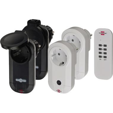 brennenstuhl® Funksteckdose RC CE1 2201 25m 2 Funkschaltempfänger weiß (IP20), 2 Funkschaltempfänger