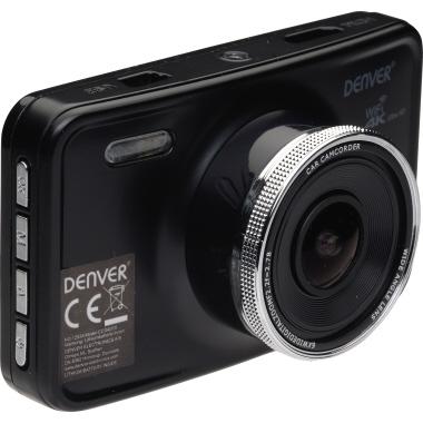 "DENVER Dashcam 7,62 cm (3"") 4K microSD inkl. Kfz-Halterung, 12 V-Autoadapter, USB-Kabel, GPS-Antenne"