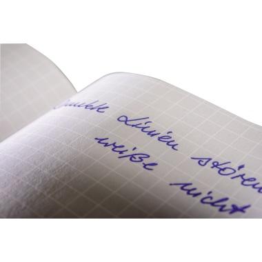 Avery Zweckform Notizbuch Notizio DIN A5 kariert grau 80 Bl.