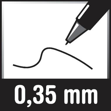 edding Fineliner 1800 profipen 0,35mm schwarz