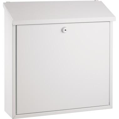 ALCO Briefkasten 37 x 37 x 12 cm (B x H x T) Stahl, lackiert weiß