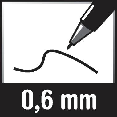 edding Folienstift 141 F 0,6mm schwarz nicht dokumentenecht
