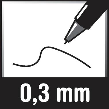 edding Fineliner 55 0,3mm rot
