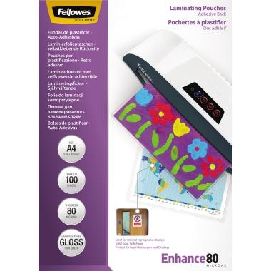 Fellowes® Laminierfolie Enhance 80 210 x 297 mm (B x H) DIN A4 80µm glänzend 100 St./Pack.