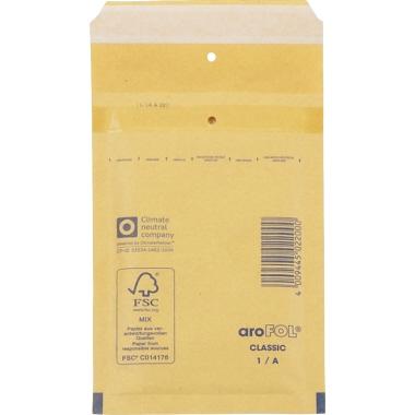 aroFOL® Luftpolstertasche classic Standard 1/A Adhäsionsverschluss, mit Haftklebung, Lochung für Kla