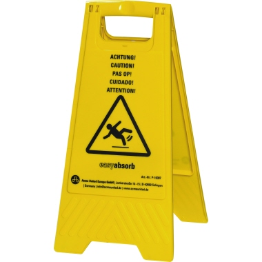 easy absorb Warnschild 57cm gelb Achtung!