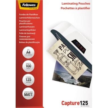 Fellowes® Laminierfolie Capture 125 216 x 303 mm (B x H) DIN A4 125µm matt 100 St./Pack.