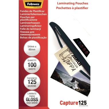 Fellowes® Laminierfolie Capture 125 54 x 86 mm (B x H) 125µm glänzend 100 St./Pack.
