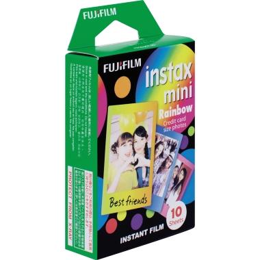 Fujifilm Film Fotoapparat instax mini Rainbow instax mini Sofortbildkameras 10 St./Pack.