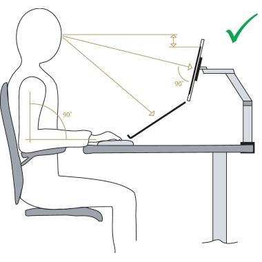 BakkerElkhuizen Monitorschwenkarm Smart Office 11 55 x 52 x 11,5 cm (B x H x T) 2-9kg Stahl silber/g