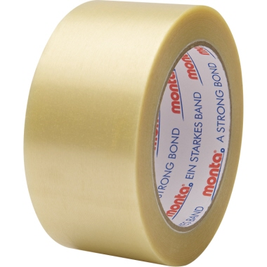 Monta Packband 201 50 mm x 66 m (B x L) Hart-PVC-Folie transparent 6 St./Pack.