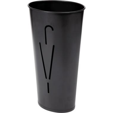 ALBA Schirmständer Ellipse 23,5 x 60 cm (Ø x H) Stahlblech, pulverbeschichtet schwarz