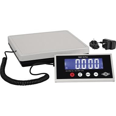 WEDO® Paketwaage PAKET 50 Plus 5 g - 50kg mit Netzanschluss