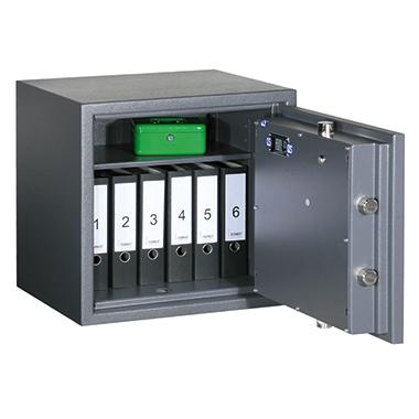 Format Sicherheitsschrank Libra 10 Innenmaße: 528 x 535 x 365 mm (B x H x T) 135mm Doppelbartschloss