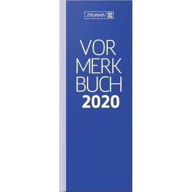 BRUNNEN Buchkalender 2020 2 Tage/1 Seite Karton blau