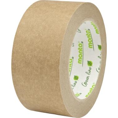 Monta Packband 841 50 mm x 66 m (B x L) Papier braun 6 St./Pack.
