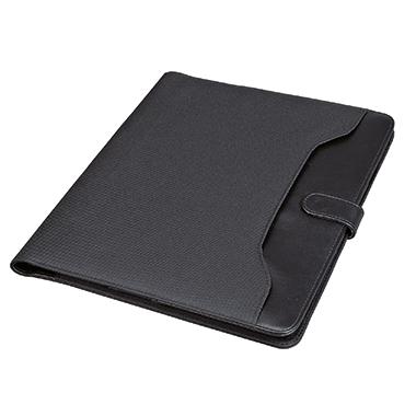 Alassio® Schreibmappe FANO 26 x 32,2 x 2 cm (B x H x T) Lederimitat/Nylon schwarz