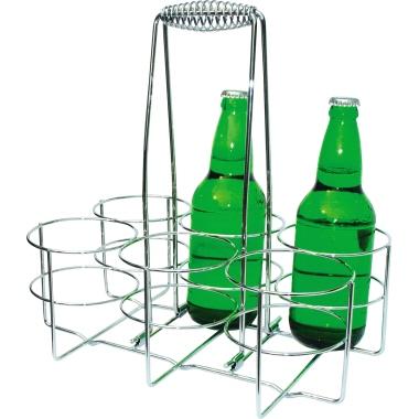 APS Flaschenträger 32 x 32,5 x 21,5 cm (B x H x T) 6 Flaschenhalter Metall, verchromt