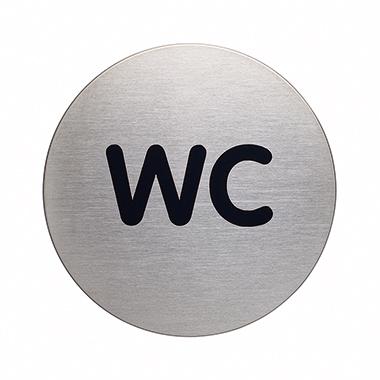 DURABLE Piktogramm Türschild PICTO 83mm Edelstahl, gebürstet silber metallic WC