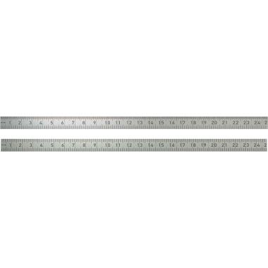 BMI Lineal 30cm Edelstahl silber