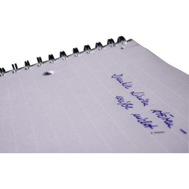 Avery Zweckform Collegeblock Notizio DIN A4 liniert mit Rand 90g/m² Polypropylen grau 90 Bl.