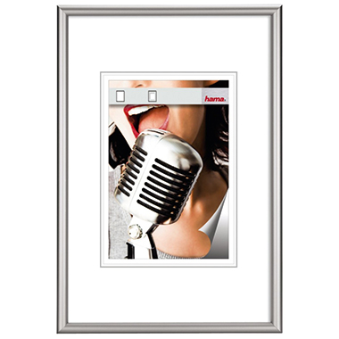 Hama Bilderrahmen Chicago 50 x 70 cm (B x H) 30 x 45 cm (B x H) Reflexglas Aluminium, eloxiert silbe