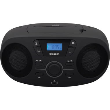 BIG BEN CD-Player 23,8 x 14,1 x 29 cm (B x H x T) mit UKW-Radio mit MP3 Wiedergabe 2 x 2W Netzbetrie