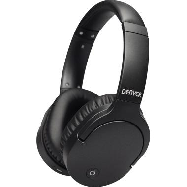 DENVER Kopfhörer BTN-207 Over-Ear 10m Akku inkl. 3,5 mm Klinkenkabel, Micro-USB-Ladekabel schwarz