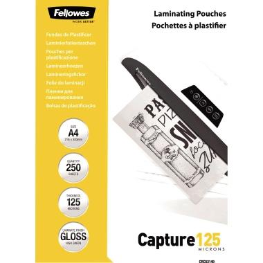 Fellowes® Laminierfolie Capture 125 222 x 306 mm (B x H) DIN A4 125µm glänzend 250 St./Pack.