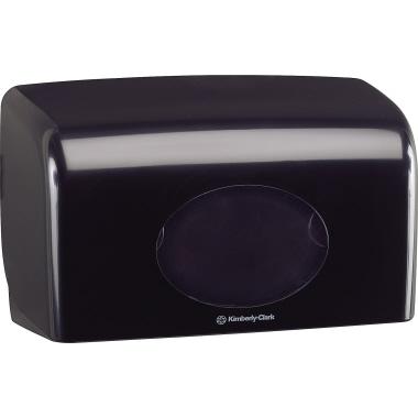 Aquarius Toilettenpapierspender 29,8 x 18 x 12,8 cm (B x H x T) Kunststoff schwarz
