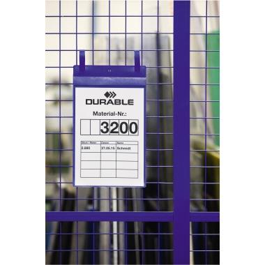 DURABLE Sichttasche DIN A4 Polypropylen blau 50 St./Pack.