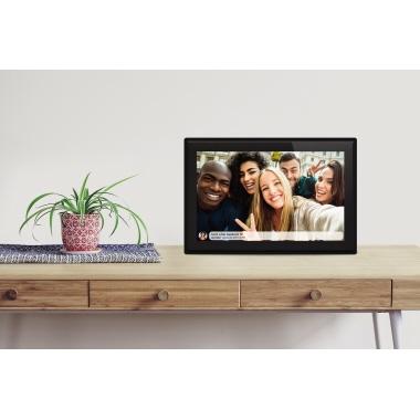 DENVER Digitaler Bilderrahmen 25,8 x 17,6 x 1,8 cm (B x H x T) IPS-Touchscreen schwarz