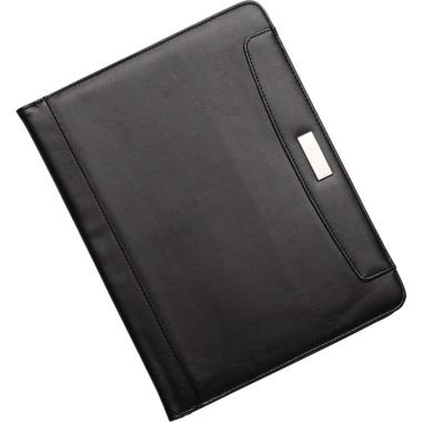 Alassio® Schreibmappe MARES 33 x 24 x 2,5 cm (B x H x T) Kunstleder schwarz