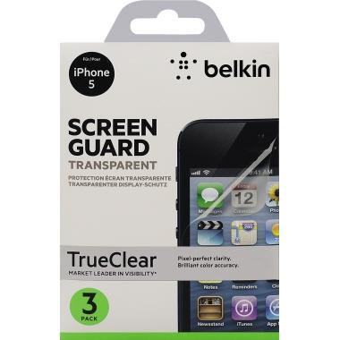 Belkin Bildschirmschutzfolie TrueClear™ Apple iPhone 5, 5s 3 St./Pack.