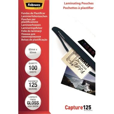 Fellowes® Laminierfolie Capture 125 60 x 90 mm (B x H) 125µm glänzend 100 St./Pack.