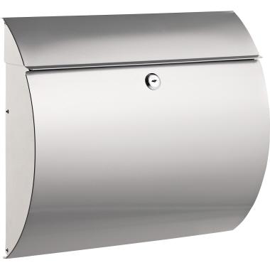 ALCO Briefkasten 32,7 x 37,5 x 11,8 cm (B x H x T) Edelstahl silber
