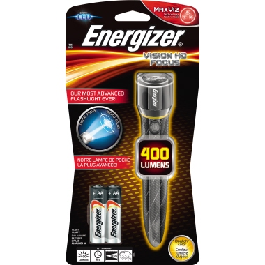 Energizer® Taschenlampe METAL VISION HD FOCUS 115m 400lm LED 4 h AA/Mignon Metall